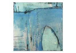 Abstraktes modernes Bild auf 80 x 80 cm