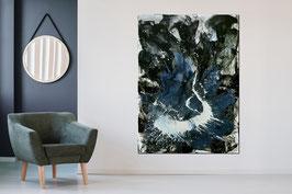 Zwei riesige Bilder je 180 x 120 cm schwarz weiss