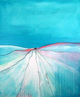 gemälde hellblau - 120 x 100 cm - Simple Auswege
