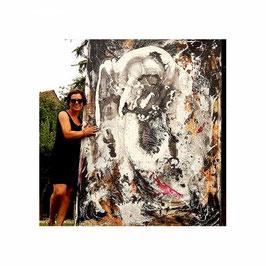 220 x 160 cm Großformat schwarzweiß als Auftrag