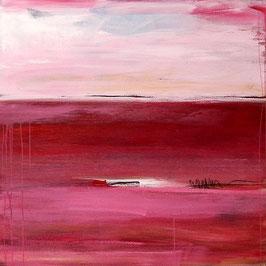 Unikat -  rosa weinrote Bilder 120 x 120 cm