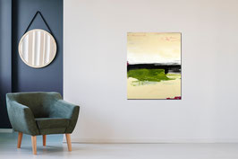 grünes abstraktes Kunstwerk