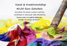 Gutschein für Kunst-und Kreativworkshop