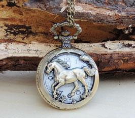 Taschenuhr Pferde-Design