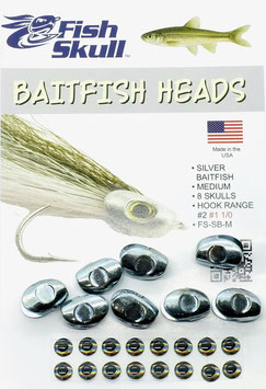 Fish Skull BAITFISH HEADS Silver Medium FS-SB-M