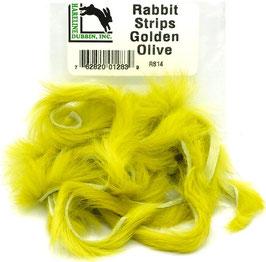 Hareline RABBIT STRIPS Golden Olive RS14