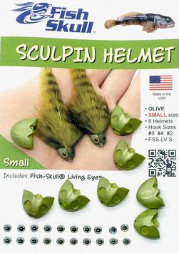 Fish Skull SKULPIN HELMET Olive Small FSS-LV-S