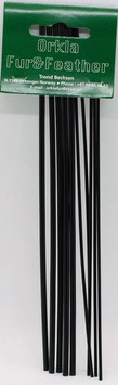 Orkla Fur & Feather Tubes Black