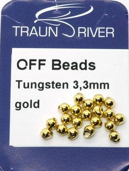 Traun River TUNGSTEN OFF BEADS 3,3mm Gold
