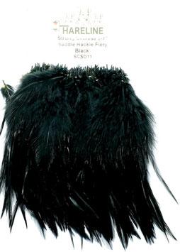 Hareline CHINESE SADDLE HACKLE 5 - 7'' Black SCSD11
