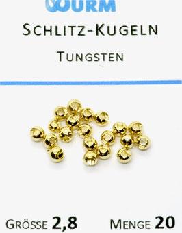 Wurm TUNGSTENKUGELN MIT SCHLITZ Gold 2,8mm