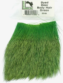 Hareline DYED DEER HAIR Green DD169