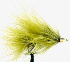 Yangoo CONE HEAD WOOLY BUGGER Olive #4