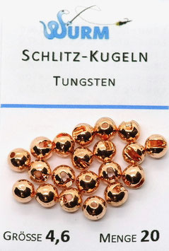 Wurm TUNGSTENKUGELN MIT SCHLITZ Kupfer 4,6mm