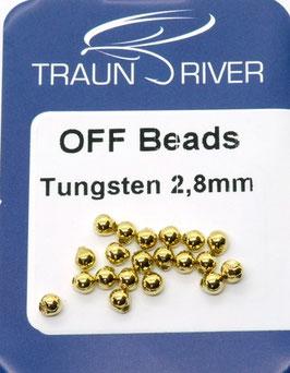 Traun River TUNGSTEN OFF BEADS 2,8mm Gold