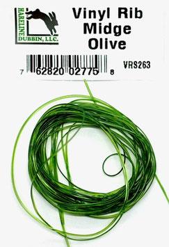 Hareline VINY RIB Midge Olive VRS263