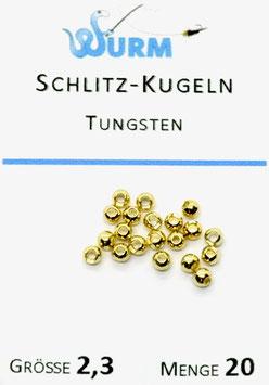 Wurm TUNGSTENKUGELN MIT SCHLITZ Gold 2,3mm