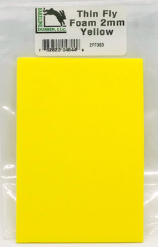 Hareline THIN FLY FOAM Yellow 2FF383