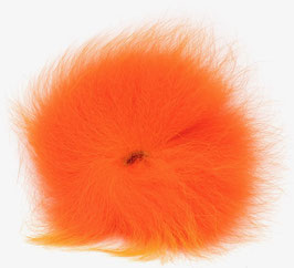 Orkla Fur & Feather ARCTIC FOX TAIL Fl. Orange
