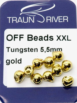 Traun River TUNGSTEN OFF BEADS 5,5mm Gold