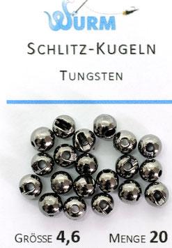 Wurm TUNGSTENKUGELN MIT SCHLITZ Schwarz 4,6mm