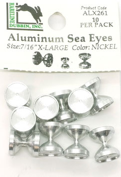 Hareline ALUMINUM SEA EYES Large