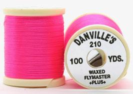 Danville's FLYMASTER PLUS 210 Denier Waxed Hot Pink
