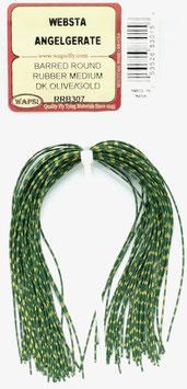 Wapsi BARRED ROUND RUBBER MEDIUM Dk. Olive/ Gold RRB307