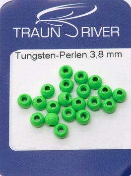 Traun River TUNGSTENKUGELN 3,8mm Fluo Grün