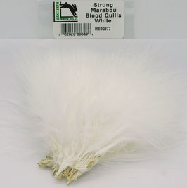 Hareline STRUNG MARABOU BLOOD QUILLS White MBSQ377