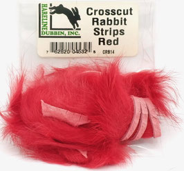 Hareline CROSSCUT RABBIT STRIPS Red CRS14