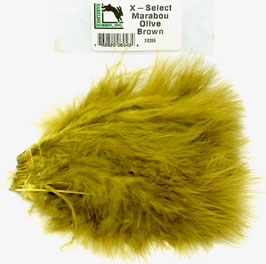 Hareline X- SELECT MARABOU Hot Olive Brown XS265