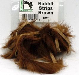 Hareline RABBIT STRIPS Brown RS37