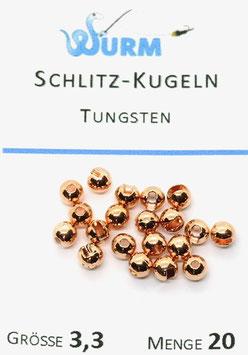 Wurm TUNGSTENKUGELN MIT SCHLITZ Kupfer 3,3mm