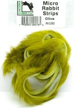 Hareline MICRO RABBIT STRIPS Olive MIC263