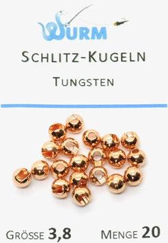 Wurm TUNGSTENKUGELN MIT SCHLITZ Kupfer 3,8mm