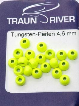 Traun River TUNGSTENKUGELN 4,6mm Fluo Gelb
