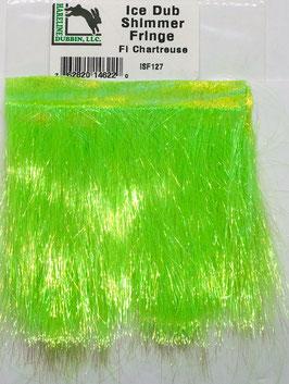 Hareline ICE DUB SHIMMER FRINGE Fl. Chartreuse ISF127