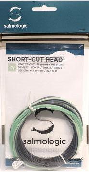 Salmologic SHORT CUT HEAD 26g./ 401grains HOVER/ SINK2/ SINK6
