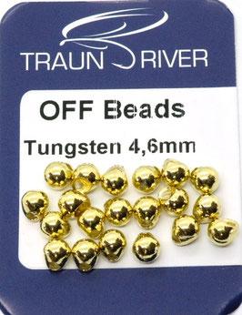 Traun River TUNGSTEN OFF BEADS 4,6mm Gold