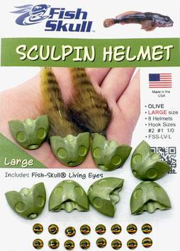 Fish Skull SKULPIN HELMET Olive Large FSS-LV-L