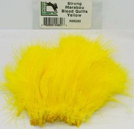 Hareline STRUNG MARABOU BLOOD QUILLS Yellow MBSQ383