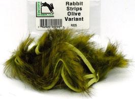 Hareline RABBIT STRIPS Olive Variant RS25