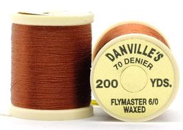 Danville's FLYMASTER 70 Denier Waxed Brown TFS047