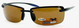 Flying Fisherman CALI READERS +2.00 Black Amber