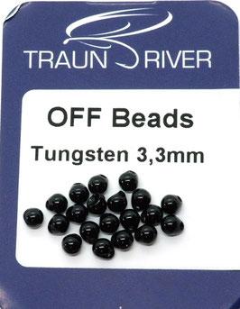 Traun River TUNGSTEN OFF BEADS 3,3mm Schwarz