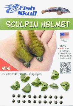 Fish Skull SKULPIN HELMET Olive Mini FSS-LV-XS