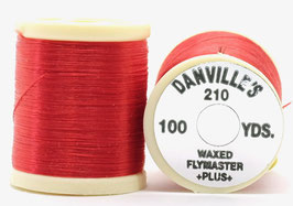 Danville's FLYMASTER PLUS 210 Denier Waxed Red TPS056
