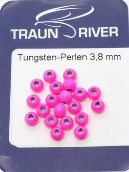 Traun River TUNGSTENKUGELN 3,8mm Fluo Rot