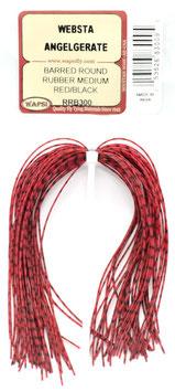 Wapsi BARRED ROUND RUBBER MEDIUM Red/Black RRB300